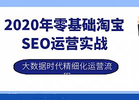 2020年零基础淘宝SEO运营实战,大数据时代精细化运营流程